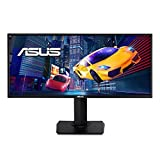 ASUS VP348QGL Monitor – 34-inch, UWQHD (3440 x 1440), 21:9, HDR-10, FreeSync, Wall Mountable, Ergonomic Design, PiP/PbP, Flicker Free, Blue Light Filter